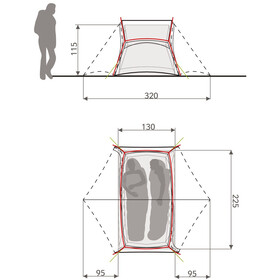 VAUDE Low Chapel L 2P Tent avocado